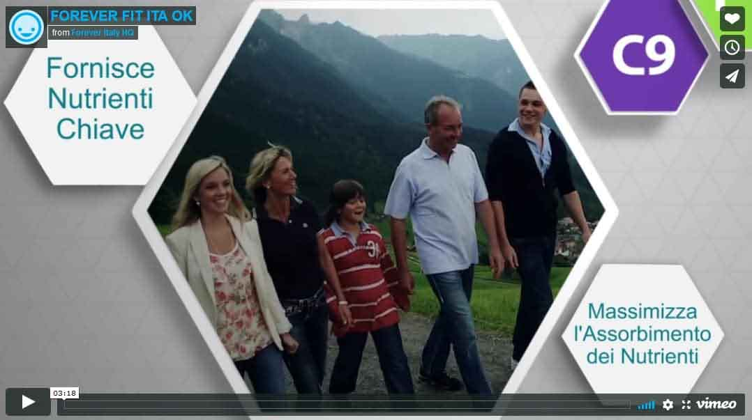 Video introduttivo nel programma FIT della Forever: dimagrimento sano e sicuro