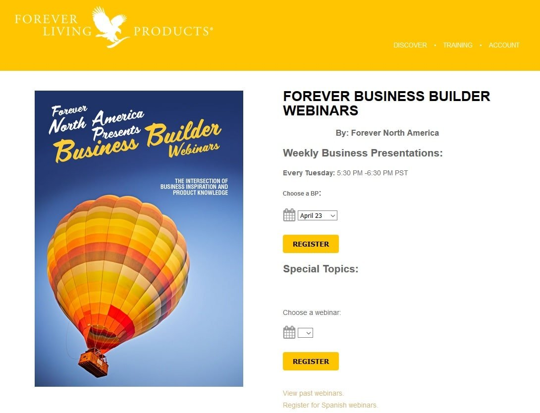 first subscribe as a distributor, than come back to login to see the Forever Webinars