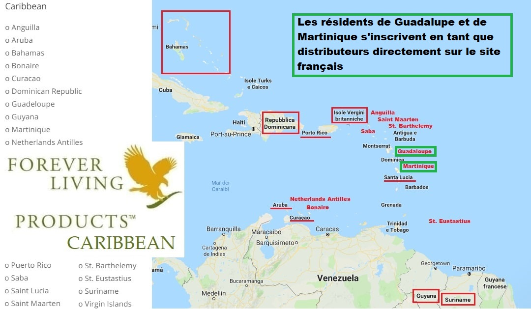 Forever Living Products Caribbean offices