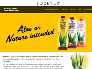 www.aloeveraitalia.flp.com - shop internazionale Forever Living Products