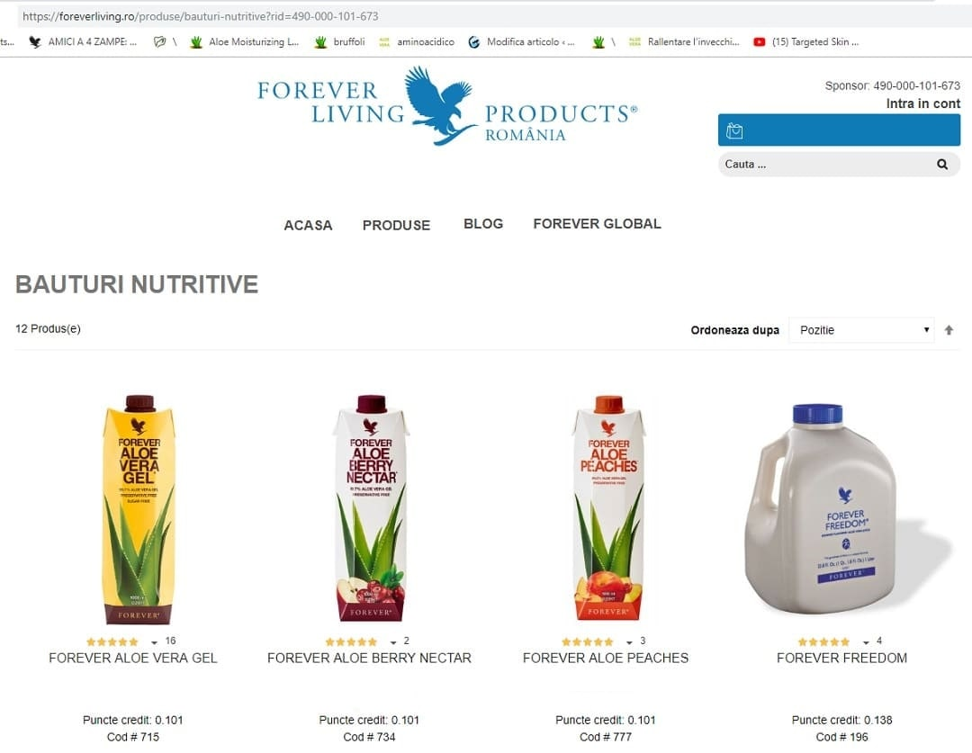 Click on the image to send me an email: get the registration registration link for Forever Living Products Romania